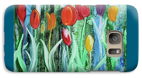 Galaxy Case featuring the painting Tulip Season by Nancy Jolley
