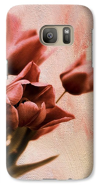 Galaxy S7 Case featuring the photograph Tulip Whimsy by Jessica Jenney