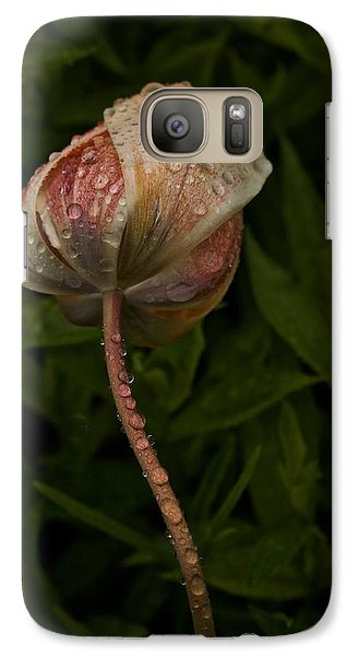Galaxy Case featuring the photograph Tulip Tear Drops by Richard Cummings