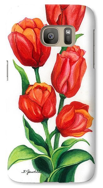 Galaxy Case featuring the painting Tulip Time by Barbara Jewell
