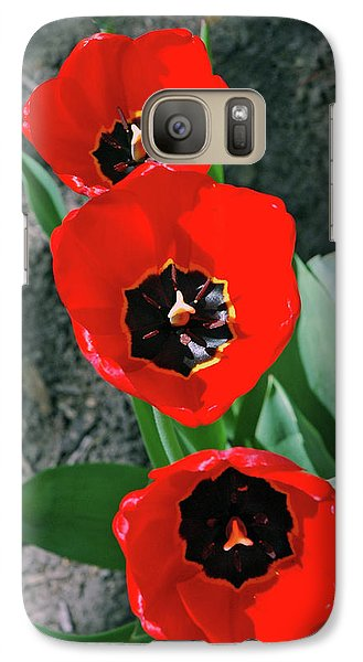 Galaxy Case featuring the photograph Tulip Trio by LeeAnn McLaneGoetz McLaneGoetzStudioLLCcom