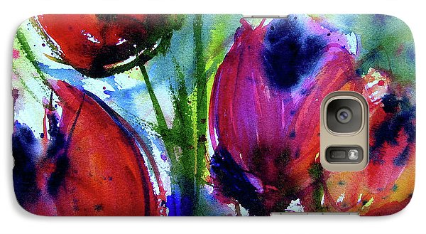 Galaxy Case featuring the painting Tulips 1 by Marti Green