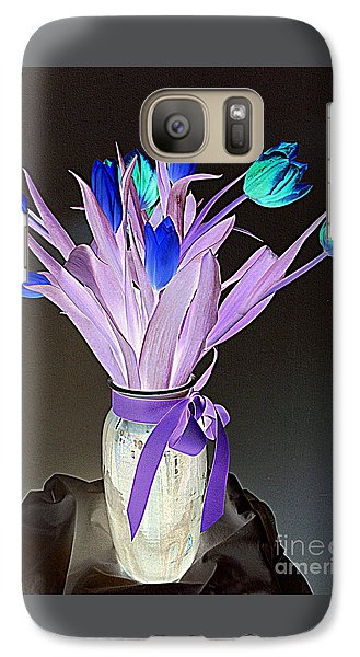 Galaxy Case featuring the photograph Tulips Cancer 1 by Richard W Linford