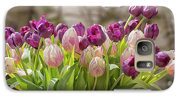 Galaxy Case featuring the photograph Tulips In A Bucket by Patricia Hofmeester