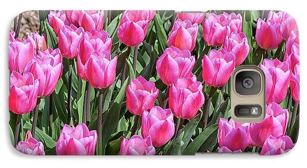 Galaxy Case featuring the photograph Tulips In Pink Color by Patricia Hofmeester