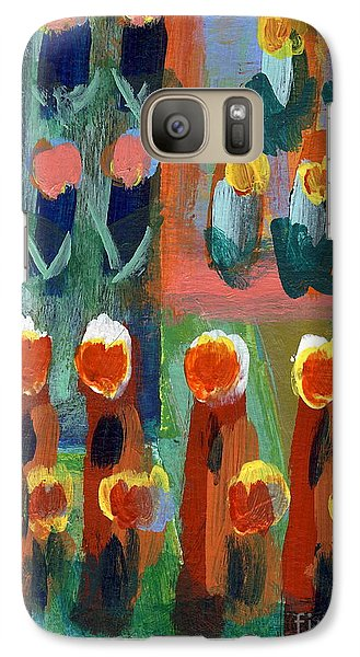 Galaxy Case featuring the painting Tulips by Jan Daniels
