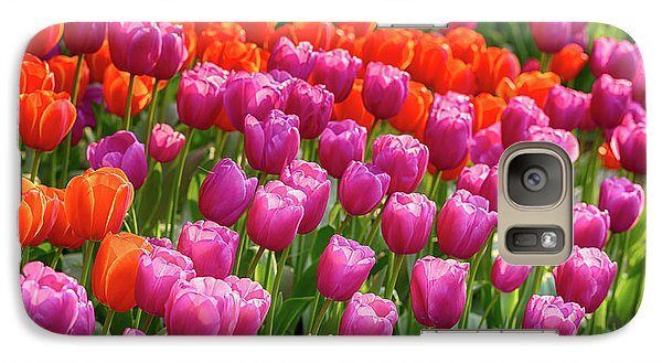 Galaxy Case featuring the photograph Tulips Mean Spring by Mary Jo Allen