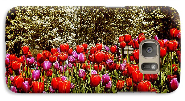 Galaxy Case featuring the photograph Tulips by Milena Ilieva