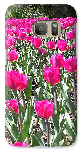 Galaxy Case featuring the photograph Tulips by Mary-Lee Sanders