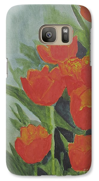 Galaxy Case featuring the painting Tulips by Sandy McIntire