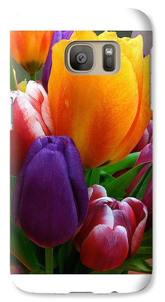 Galaxy Case featuring the photograph Tulips Smiling by Marie Hicks