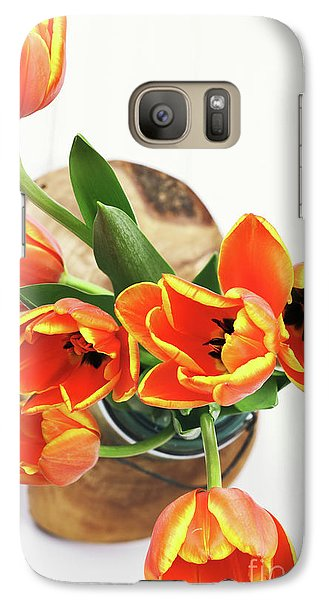 Galaxy Case featuring the pyrography Tulips by Stephanie Frey