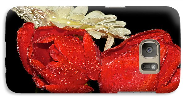 Galaxy Case featuring the photograph Tulips With Gerber by Elvira Ladocki