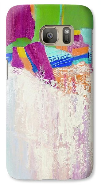 Galaxy Case featuring the painting Tumbling Waters by Irene Hurdle