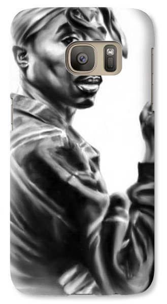Galaxy Case featuring the painting Tupac Shakur by Darryl Matthews