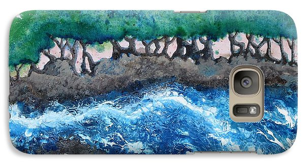 Galaxy Case featuring the painting Turbulent Waters by Antonio Romero