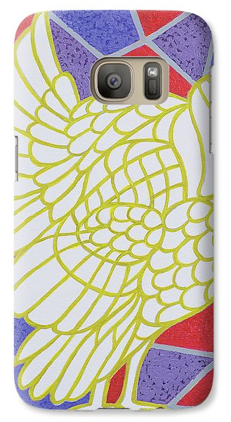 Turkey On Stained Glass Galaxy S7 Case by Pat Scott