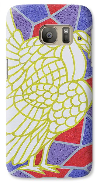 Turkey On Stained Glass Galaxy S7 Case