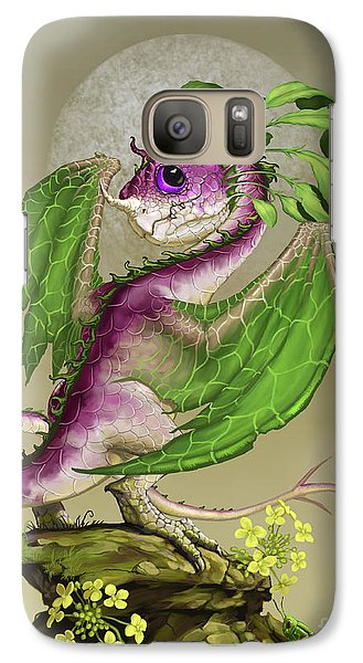 Galaxy Case featuring the digital art Turnip Dragon by Stanley Morrison
