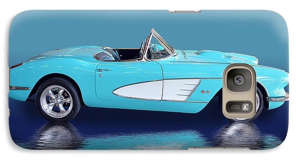 Galaxy Case featuring the photograph Turq Vette  by Bill Dutting