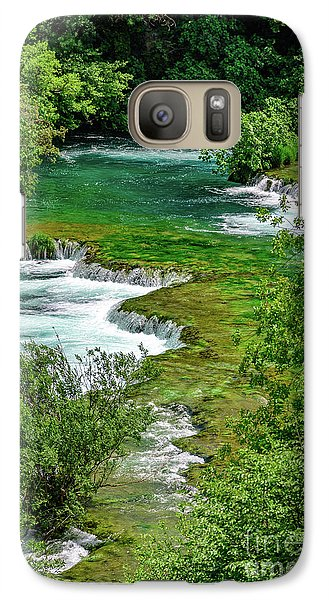 Turqouise Waterfalls Of Skradinski Buk At Krka National Park In Croatia Galaxy S7 Case