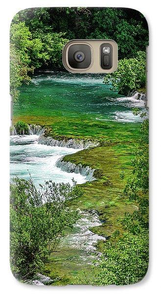 Turqouise Waterfalls Of Skradinski Buk At Krka National Park In Croatia Galaxy S7 Case