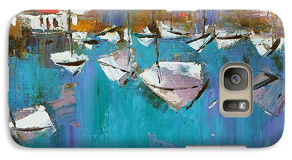 Galaxy Case featuring the painting Turquoise by Anastasija Kraineva