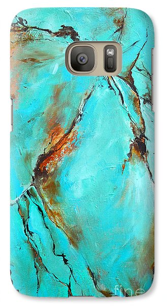 Galaxy Case featuring the painting Turquoise Impression by Cher Devereaux