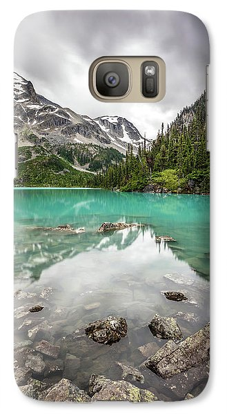 Galaxy Case featuring the photograph Turquoise Lake In The Mountains by Pierre Leclerc Photography