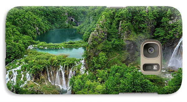 Turquoise Lakes And Waterfalls - A Dramatic View, Plitivice Lakes National Park Croatia Galaxy S7 Case