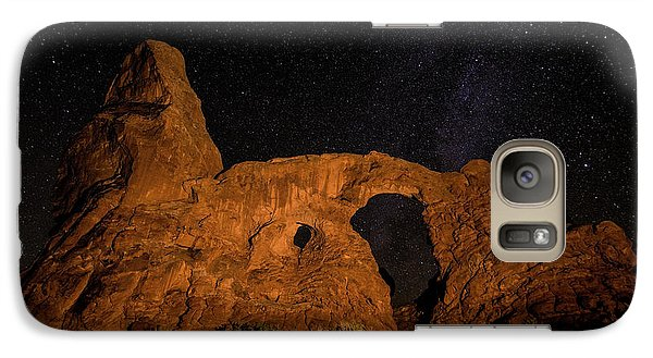 Galaxy Case featuring the photograph Turret Arch And The Milky Way - Utah by Gary Whitton