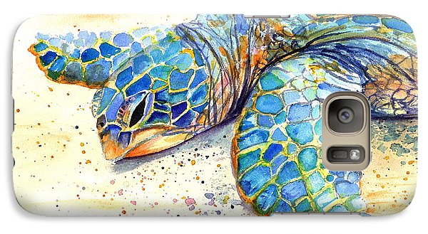 Galaxy Case featuring the painting Turtle At Poipu Beach 4 by Marionette Taboniar