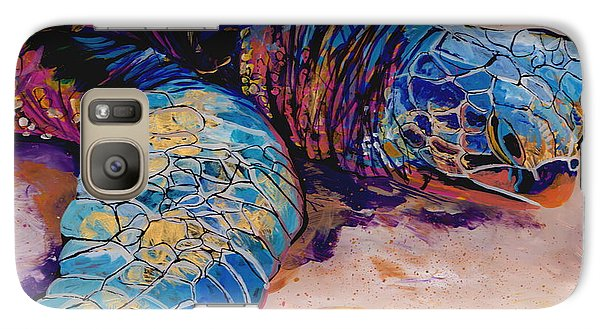 Galaxy Case featuring the painting Turtle At Poipu Beach 6 by Marionette Taboniar