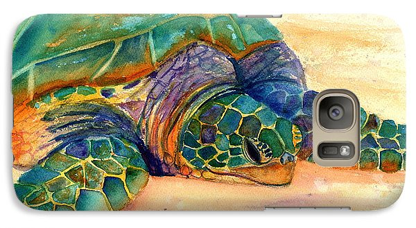 Galaxy Case featuring the painting Turtle At Poipu Beach 7 by Marionette Taboniar