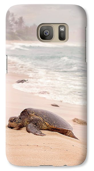 Galaxy Case featuring the photograph Turtle Beach by Heather Applegate