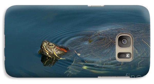 Turtle Floating In Calm Waters Galaxy S7 Case