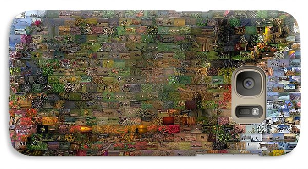 Galaxy Case featuring the mixed media Turtle Wild Animals Mosaic by Paul Van Scott