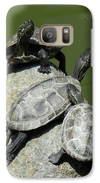 Galaxy Case featuring the photograph Turtles At A Temple In Narita, Japan by Breck Bartholomew