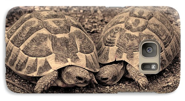 Galaxy Case featuring the photograph Turtles Pair by Gina Dsgn