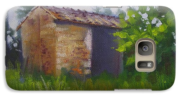 Galaxy Case featuring the painting Tuscan Abandoned Farm Shed by Chris Hobel