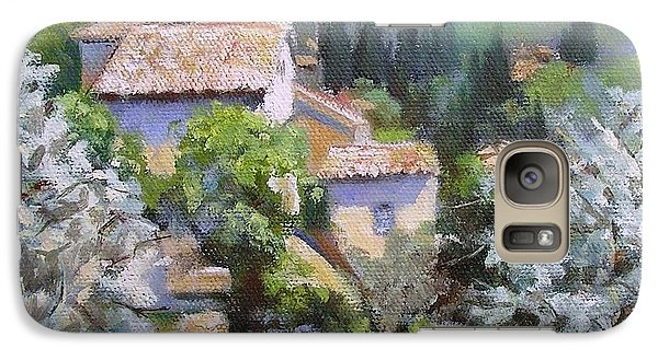 Galaxy Case featuring the painting Tuscan  Hilltop Village by Chris Hobel