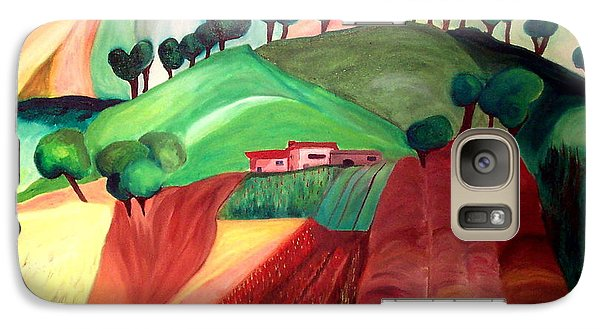 Galaxy Case featuring the painting Tuscan Landscape by Patricia Arroyo