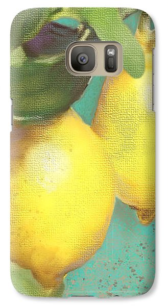 Tuscan Lemon Tree - Citrus Limonum Damask Galaxy Case by Audrey Jeanne Roberts