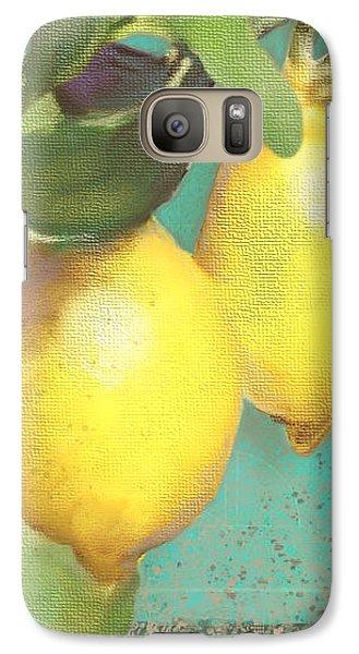 Lemon Galaxy S7 Case - Tuscan Lemon Tree - Citrus Limonum Damask by Audrey Jeanne Roberts