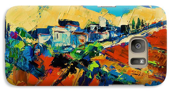 Galaxy Case featuring the painting Tuscan Light by Elise Palmigiani