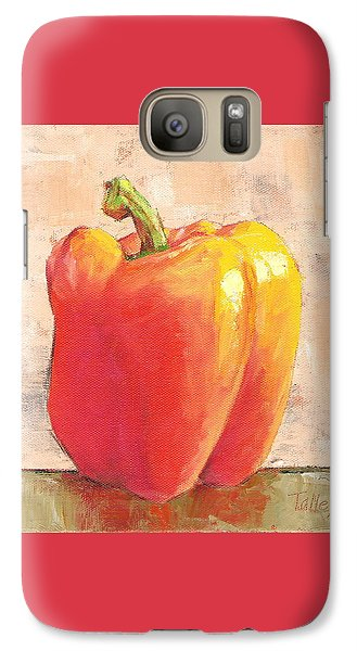 Galaxy Case featuring the painting Tuscan Orange Pepper by Pam Talley