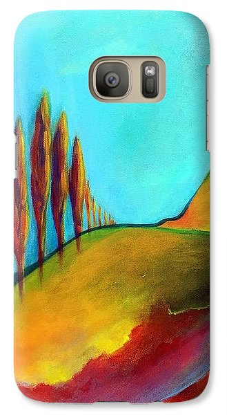 Galaxy Case featuring the painting Tuscan Sentinels by Elizabeth Fontaine-Barr