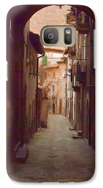 Galaxy Case featuring the photograph Tuscan Side Street by Michael Flood