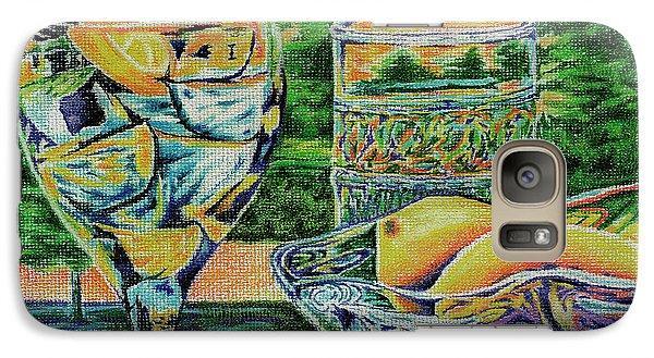 Galaxy Case featuring the drawing Tuscan Summer Lemonade  by Peter Piatt