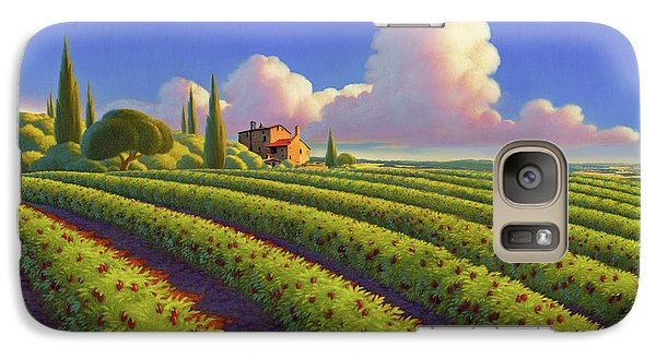 Galaxy Case featuring the painting Tuscan Summer by Robin Moline
